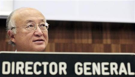 International Atomic Energy Agency (IAEA) Director General Yukiya Amano attends the second Extraordinary Meeting of Contracting Parties to the Convention on Nuclear Safety at the United Nations headquarters in Vienna August 27, 2012. REUTERS/Herwig Prammer