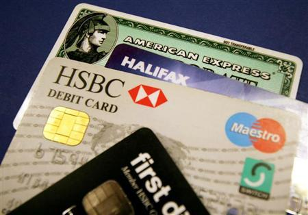 A generic picture of a some credit cards and debit cards. BANKG REUTERS/Catherine Benson/Files