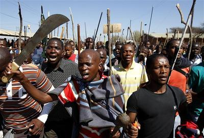 South Africa's striking miners
