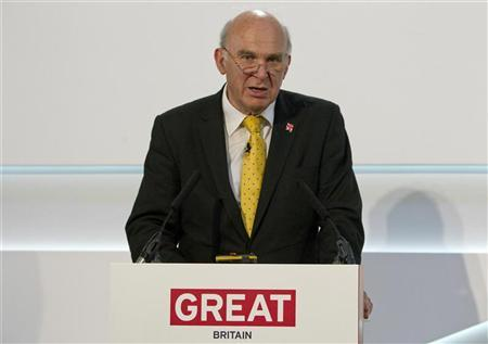 Britain's Business Secretary Vince Cable speaks at the Global Investment Conference 2012 in London July 26, 2012. REUTERS/Neil Hall