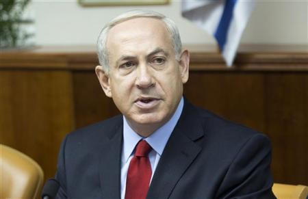 Israel's Prime Minister Benjamin Netanyahu attends the weekly cabinet meeting in Jerusalem September 9, 2012. REUTERS/Menahem Kahana/Pool