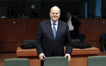 Ireland's Finance Minister Michael Noonan waits for the start of an eurozone finance ministers meeting at the EU Council in Brussels July 9, 2012. REUTERS/Francois Lenoir