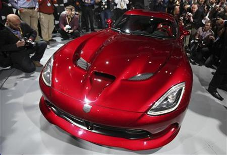 The 2013 Chrysler SRT Viper is seen at the 2012 International Auto Show in New York April 4, 2012. REUTERS/Shannon Stapleton