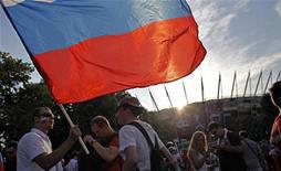 <p>La Russie s'apprête à écarter deux villes de la liste des candidates à l'organisation de matches de la Coupe du monde 2018 pour n'en retenir que onze. /Photo prise le 16 juin 2012/REUTERS/Jerzy Dudek</p>