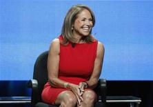 "Host Katie Couric attends a panel for ""Katie"" during the Disney/ABC Television Group portion of the Television Critics Association Summer press tour in Beverly Hills, California July 26, 2012. REUTERS/Mario Anzuoni"