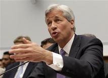 "JPMorgan Chase & Co CEO Jamie Dimon testifies before the House Financial Services hearing on ""Examining Bank Supervision and Risk Management in Light of JPMorgan Chase's Trading Loss"" on Capitol Hill in Washington June 19, 2012. REUTERS/Yuri Gripas"