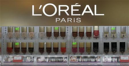 L'Oreal cosmetics are displayed in a shop in Riga April 13, 2012. REUTERS/Ints Kalnins