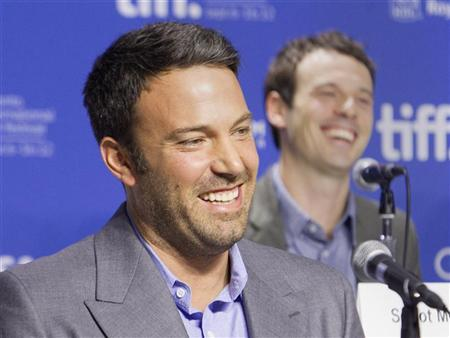 Actor and director Ben Affleck attends a news conference to promote the film 'Argo' during the 37th Toronto International Film Festival, September 8, 2012. REUTERS/Fred Thornhill