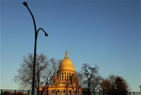 The Rhode Island statehouse is seen from the highway in Providence, Rhode Island November 17, 2009. REUTERS/Brian Snyder