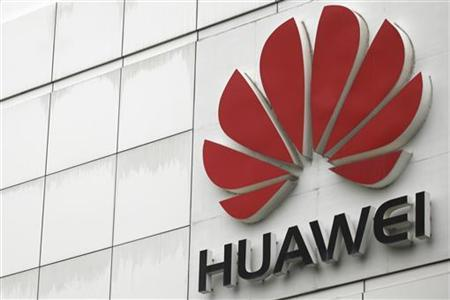 The logo of the Huawei Technologies Co. Ltd. is seen outside its headquarters in Shenzhen, Guangdong province, April 17, 2012. REUTERS/Tyrone Siu