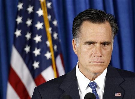 U.S. Republican presidential nominee and former Massachusetts Governor Mitt Romney listens to questions on the attack on the U.S. consulate in Libya, in Jacksonville, Florida, September 12, 2012. REUTERS/Jim Young