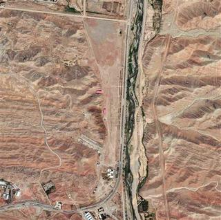A section of the Parchin military facility in Iran is pictured in this August 22, 2012 DigitalGlobe handout satellite image. This part of the facility has had documented changes in the last year. REUTERS/Courtesy DigitalGlobe/Handout