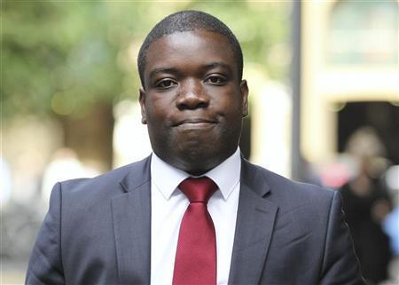 Former UBS trader Kweku Adoboli arrives at Southwark Crown Court in London September 10, 2012. REUTERS/Olivia Harris