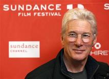 "Cast member Richard Gere poses at the premiere of the film ""Arbitrage"" at the Eccles theatre during the Sundance Film Festival in Park City, Utah January 21, 2012. REUTERS/Mario Anzuoni"