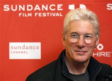 Cast member Richard Gere poses at the premiere of the film ''Arbitrage'' at the Eccles theatre during the Sundance Film Festival in Park City, Utah January 21, 2012. REUTERS/Mario Anzuoni