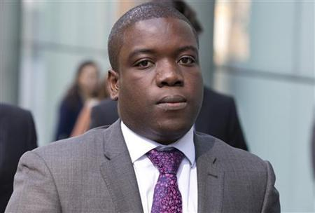 Former UBS trader Kweku Adoboli arrives at Southwark Crown Court after a break for lunch in London September 14, 2012. REUTERS/Neil Hall
