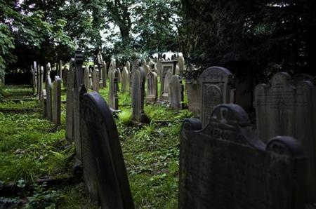 The graveyard of the church at Haworth, England July 20, 2009. REUTERS/Kevin Coombs