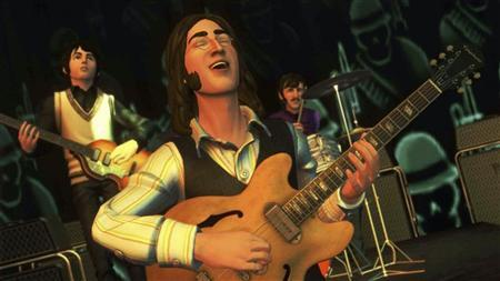 A still image from the new computer game The Beatles: Rock Band is seen in this handout released to Reuters in London September 9, 2009. REUTERS/MTV GAMES/Harmonix/Handout