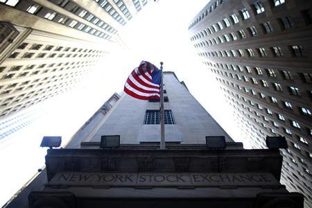A flag flies at the exterior of New York Stock Exchange June 15, 2012. REUTERS/Eric Thayer