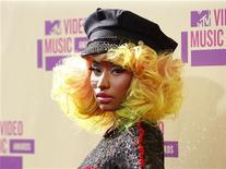 Singer Nicki Minaj arrives for the 2012 MTV Video Music Awards in Los Angeles, September 6, 2012. REUTERS/Danny Moloshok