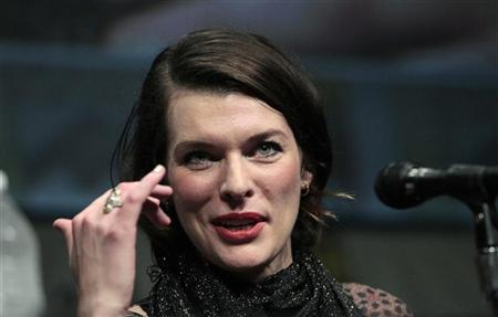 Cast member Milla Jovovich speaks during a panel for ''Resident Evil: Retribution'' during the Comic Con International convention in San Diego, California July 13, 2012. REUTERS/Mario Anzuoni