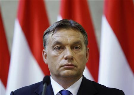 Hungarian Prime Minister Viktor Orban attends a news conference in Budapest, July 25, 2012. REUTERS/Bernadett Szabo