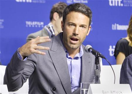 Actor and director Ben Affleck speaks at a news conference to promote the film 'Argo' during the 37th Toronto International Film Festival, September 8, 2012. REUTERS/Fred Thornhill