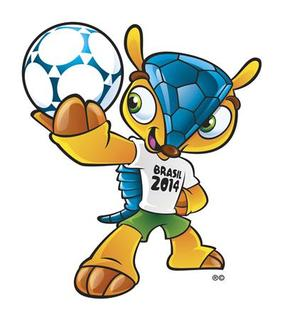 The official 2014 World Cup mascot, the Brazilian three-banded armadillo (the Tolypeutes tricinctus), a creature that is indigenous to Brazil, is seen in this undated handout image released to Reuters September 16, 2012. REUTERS/FIFA/Handout