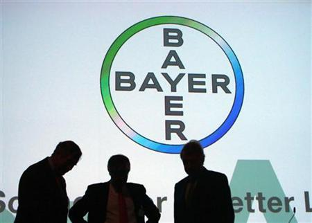 Board members of Bayer AG attend the annual general meeting in Cologne April 27, 2012. REUTERS/Ina Fassbender