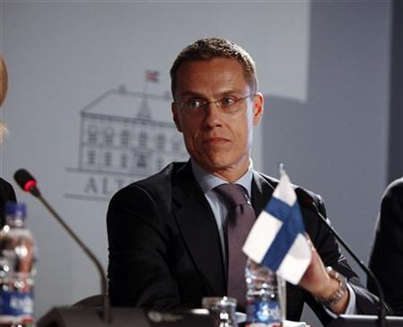 Finnish Minister Alexander Stubb at a press conference during the Nordic Council Session 2010 in Reykjavik November 3, 2010. REUTERS/Ingolfur Juliusson