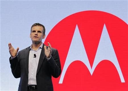 Motorola Mobility CEO Dennis Woodside speaks at a Motorola phone launch event in New York, September 5, 2012. REUTERS/Brendan McDermid