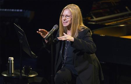 Singer Barbra Streisand performs during a tribute concert to composer Marvin Hamlisch in New York September 18, 2012. Hamlisch, the award-winning composer of numerous hit records, musicals and movies, died in Los Angeles on August 6, 2012 at the age of 68. REUTERS/Lucas Jackson