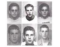 """Kyle Prall, founder of bustedmugshots.com, is seen in a combination of his own undated police mug shots for offenses including illegal consumption of alcohol as a minor, delivering/manufacturing of cannabis, and drunk driving. Prall's website collects publicly accessible police booking photos and displays them. People who find their mug shots displayed on Prall's website, or others like it, can have the pictures removed for what they refer to as a """"nominal fee."""" REUTERS/McLean County Sheriff's Office/Handout"""