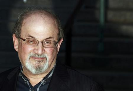 Author Salman Rushdie arrives at the Vanity Fair party to begin the 2012 Tribeca Film Festival in New York, April 17, 2012. REUTERS/Lucas Jackson