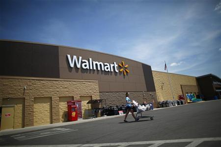 A Walmart store, that was destroyed by a tornado and later rebuilt, is seen in Joplin, Missouri May 17, 2012. REUTERS/Eric Thayer