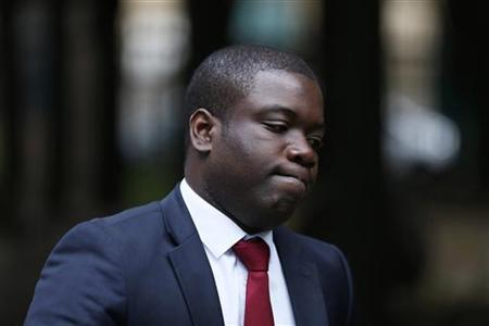 Former UBS trader Kweku Adoboli arrives at Southwark Crown Court in London September 20, 2012. REUTERS/Stefan Wermuth