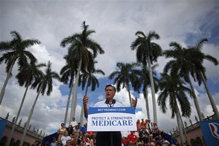 U.S. Republican presidential nominee and former Massachusetts Governor Mitt Romney speaks at a campaign rally in Sarasota, Florida, September 20, 2012. REUTERS/Jim Young