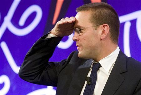 James Murdoch is seen during a conference on press and institutions at La Bagniaia di Siena, central Italy in this May 13, 2011 file photograph. REUTERS/Remo Casilli/Files