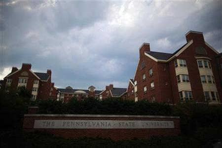 A view of the buildings on the campus of Pennsylvania State University in State College, Pennsylvania July 11, 2012. REUTERS/Eric Thayer