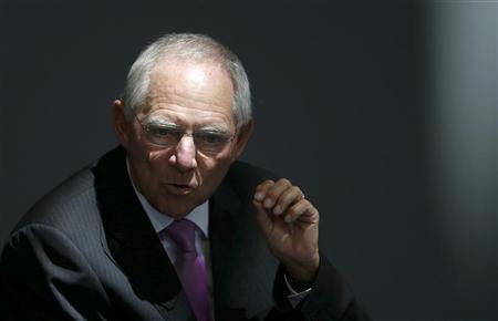 German Finance Minister Wolfgang Schaueble addresses the Bundestag, the lower house of parliament, in Berlin September 11, 2012. REUTERS/Fabrizio Bensch
