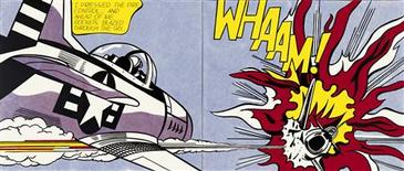 "Roy Lichtenstein's 1963 painting titled ""Whaam!"". REUTERS/Tate/Estate of Roy Lichtenstein"