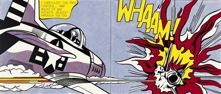Roy Lichtenstein's 1963 painting titled ''Whaam!''. REUTERS/Tate/Estate of Roy Lichtenstein