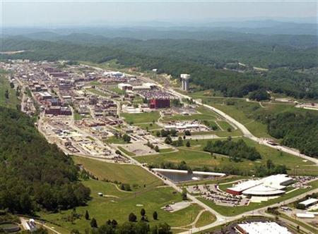 An aerial view of the Y-12 Plant in Oak Ridge, Tennessee is pictured in this U.S. government handout photo, received by Reuters August 3, 2012. REUTERS/ National Nuclear Security Administration/Handout