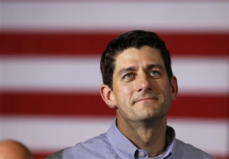 VP - POSSIBLE Wisconsin Representative Paul Ryan listens during a campaign event at Monterey Mills in Janesville, Wisconsin, June 18, 2012. REUTERS/Larry Downing