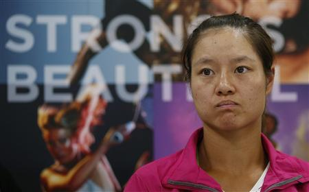 Tennis player Li Na of China attends a news conference for the Pan Pacific Open tennis tournament in Tokyo September 23, 2012. REUTERS/Toru Hanai