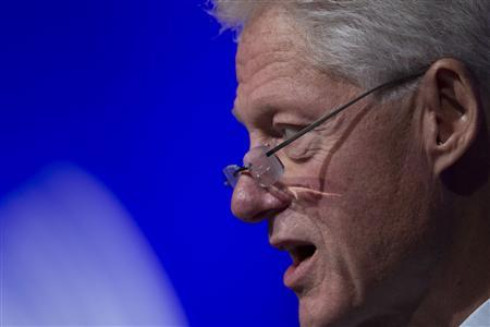 Former U.S. President Bill Clinton speaks during the first day of the Clinton Global Initiative 2012 (CGI) in New York, September 23, 2012. REUTERS/Lucas Jackson
