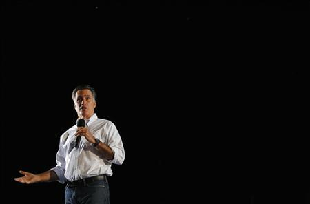 Republican presidential candidate and former Massachusetts Governor Mitt Romney speaks at a campaign rally in Denver, Colorado September 23, 2012. REUTERS/Brian Snyder