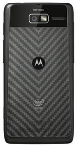 The ''Intel Inside'' logo is seen on a Motorola Mobility ''Razr i'' smartphone in this undated handout image. REUTERS/Motorola Mobility/Handout