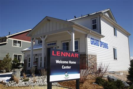 A Lennar model home is open for customers in a new neighborhood in the Denver suburb of Thornton, Colorado in this March 29, 2011 file photograph. REUTERS/Rick Wilking/Files
