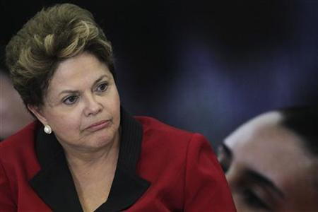 Brazil's President Dilma Rousseff speaks during the launching ceremony of the Brazil Plan 2016 at the Planalto Palace September 13, 2012. REUTERS/Ueslei Marcelino